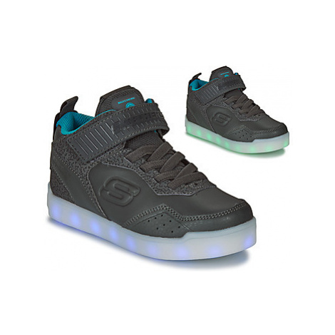 Skechers ENERGY LIGHTS boys's Children's Shoes (High-top Trainers) in Black