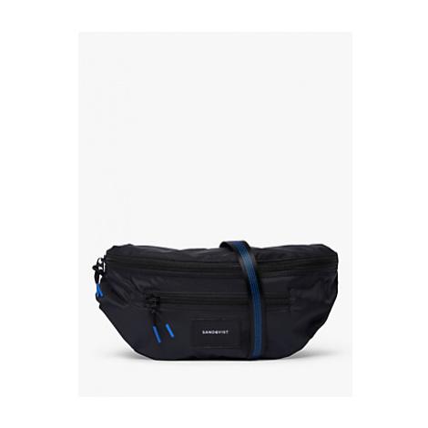 Sandqvist Aste Lightweight Recycled Nylon Bum Bag, Black