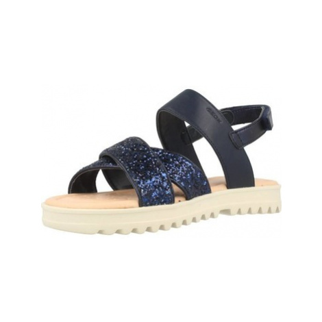 Geox J.S CORALIE G.C girls's Children's Sandals in Blue