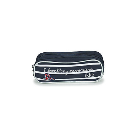 Ikks I LOVE MY MARINIERE TROUSSE DOUBLE girls's Children's Cosmetic bag in Blue