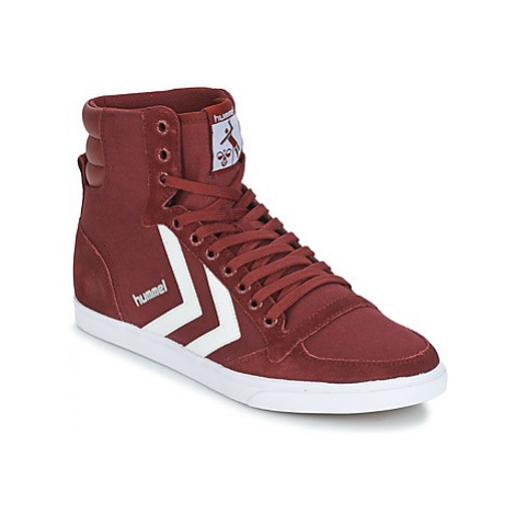 Hummel STADIL CANEVAS HIGH women's Shoes (High-top Trainers) in Bordeaux