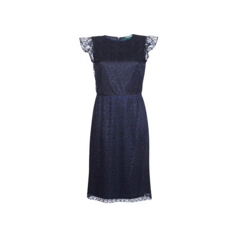 Lauren Ralph Lauren LACE CAP SLEEVE DRESS women's Dress in Blue