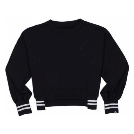 Converse WOMENS ASYMMETRICAL RIB CREW black - Women's asymmetric sweatshirt
