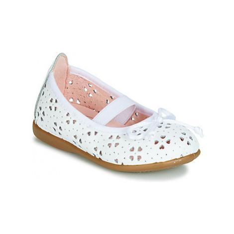 Gioseppo SAMARA girls's Children's Shoes (Pumps / Ballerinas) in White