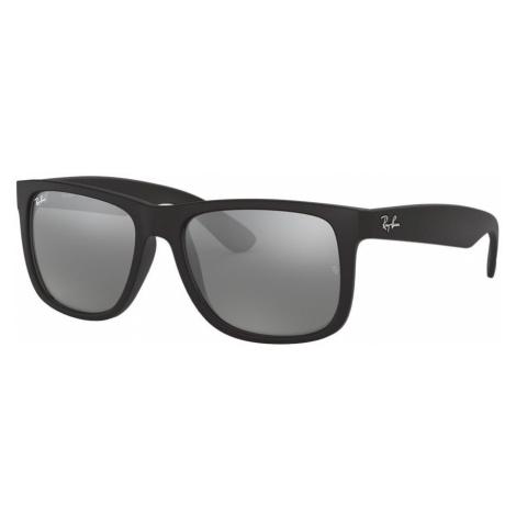 Ray Ban Unisex RB4165 JUSTIN COLOR MIX - Frame color: Black, Lens color: Grey-Black, Size 55-16/