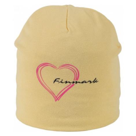 Finmark CHILDREN'S HAT beige - Winter hat