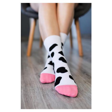 Barefoot Socks - Crew - Cow spots 43-46