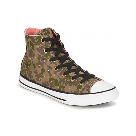 Converse Chuck Taylor All Star Hi Camo Gold Star girls's Children's Shoes (High-top Trainers) in