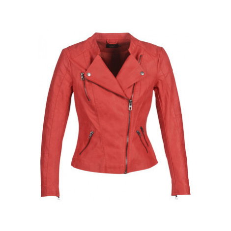 Only ONLAVA women's Leather jacket in Red