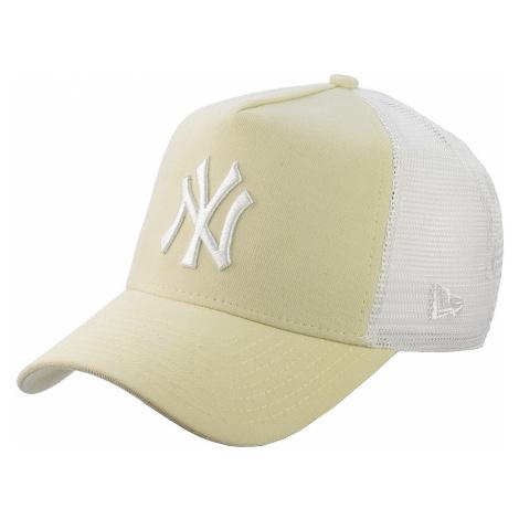 cap New Era 9FO Micro Cord Aframe Trucker MLB New York Yankees - Vanilla/White