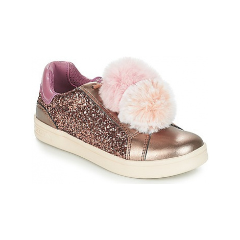 Geox J DJROCK GIRL girls's Children's Shoes (Trainers) in Beige