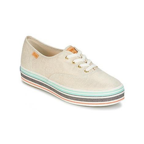 Keds TRIPLE STRIPE FOXING women's Shoes (Trainers) in Beige