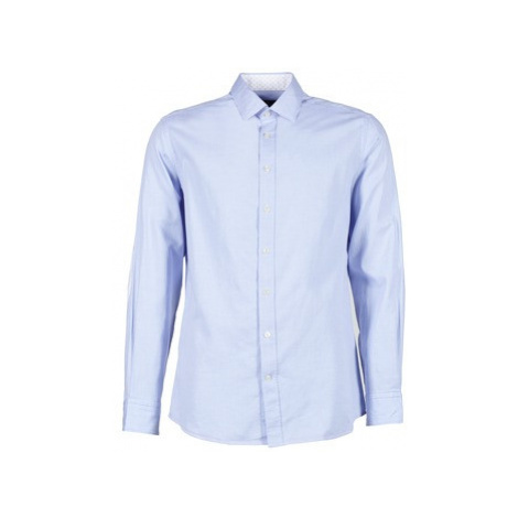 Hackett SQUARE TEXT MUTLI men's Long sleeved Shirt in Blue