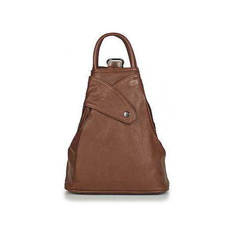 Hexagona - women's Backpack in Brown