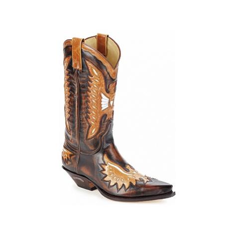 Brown men's winter shoes