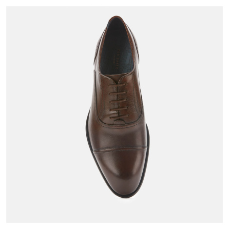 Ted Baker Men's Circass Leather Toe Cap Oxford Shoes - Brown - UK