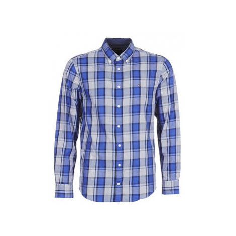 Tommy Hilfiger MIDSCALE HEATHERED CHECK SHIRT men's Long sleeved Shirt in Blue