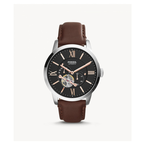 Fossil Men's Townsman Automatic Leather Watch Brown