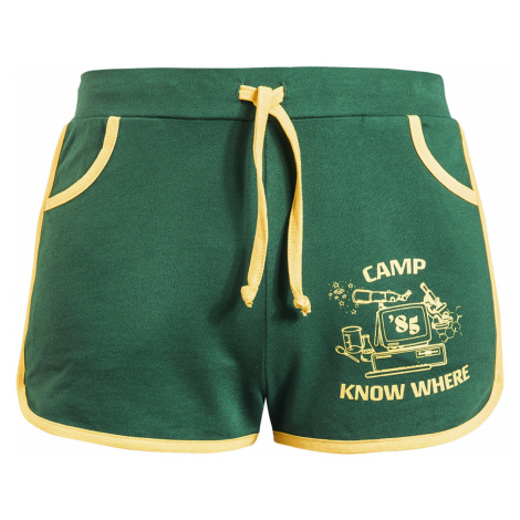 Stranger Things - Camp Know Where - Girls shorts - green-yellow