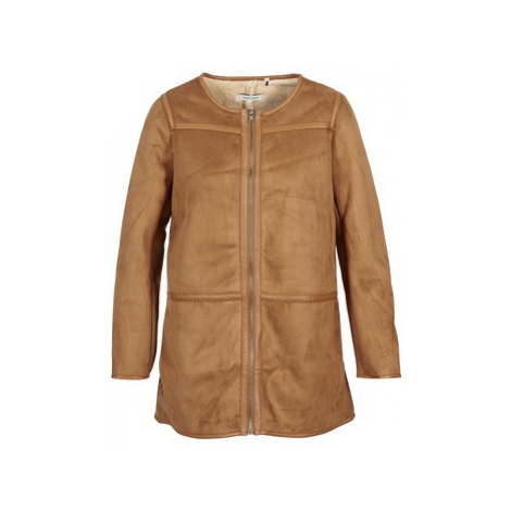 Naf Naf BYANCA women's Coat in Brown
