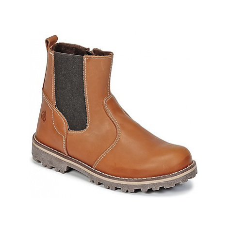 Citrouille et Compagnie HAYIT boys's Children's Mid Boots in Brown