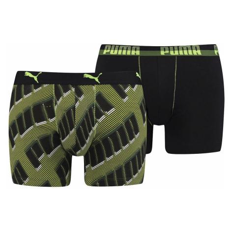 shorts Puma 691002001/Basic Boxer Aop Wording 2 Pack - 998/Black/Gray/Green - men´s