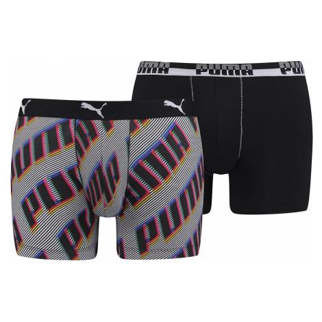 shorts Puma 691002001/Basic Boxer Aop Wording 2 Pack - 831/Navy/Red - men´s