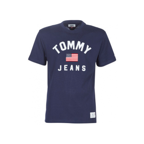 Tommy Jeans TJM USA FLAG TEE men's T shirt in Blue Tommy Hilfiger