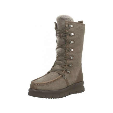 Geox D PORTHYA women's Snow boots in Brown