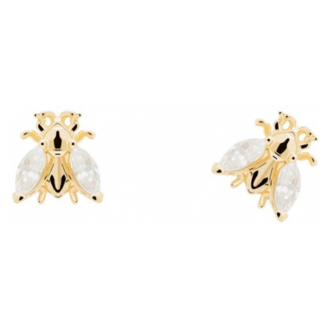 P D PAOLA Gold Plated Buzz Stud Earrings