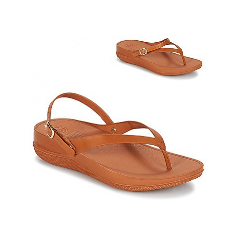 FitFlop FLIP LEATHER SANDALS women's Sandals in Brown