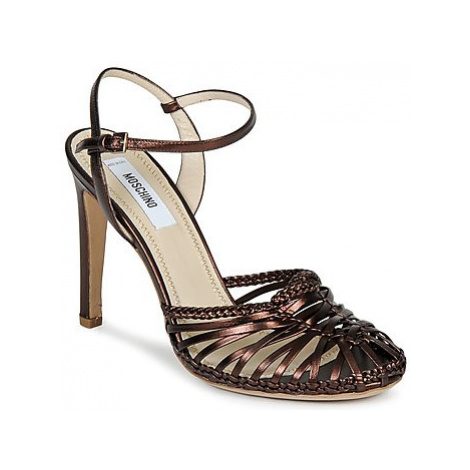 Moschino MA1603 women's Sandals in Brown