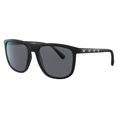 Emporio Armani Man EA4124 - Frame color: Black, Lens color: Grey-Black, Size 57-19/145
