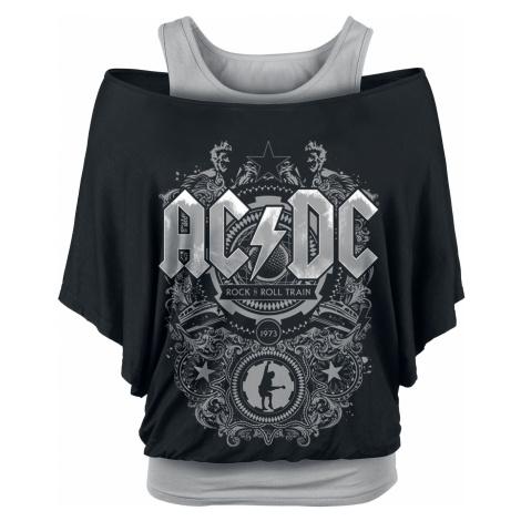 AC/DC - Rock & Roll Train - Girls shirt - black-grey