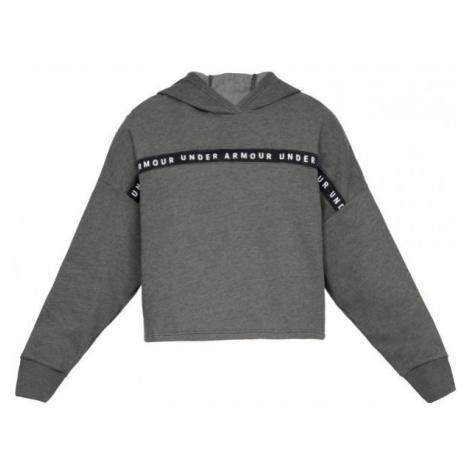 Under Armour TAPED FLEECE HOODIE gray - Women's sweatshirt