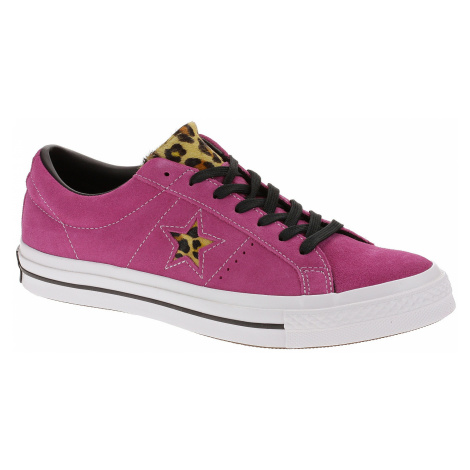 shoes Converse One Star OX - 163243/Active Fuchsia/White/Black