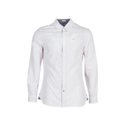 Guess SUNSET POCKET men's Long sleeved Shirt in White
