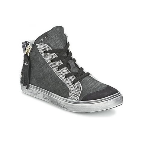 Ikks DORA girls's Children's Shoes (High-top Trainers) in Grey