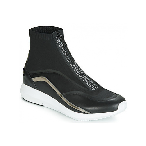 Karl Lagerfeld VITESSE KNIT SOCK ZIP women's Shoes (High-top Trainers) in Black