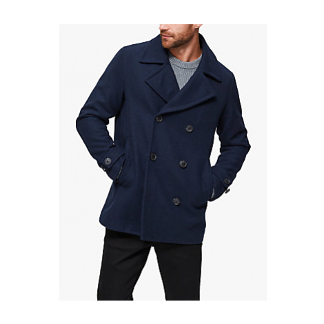 SELECTED HOMME Sustainable Wool Blend Peacoat, Sky Captain