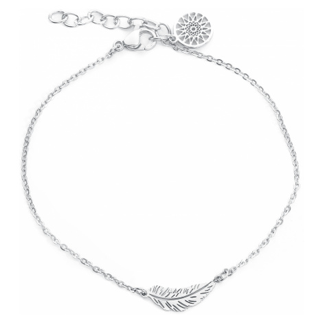 Wildcat - Feather Ankle Chain - Ankle chain - silver-coloured