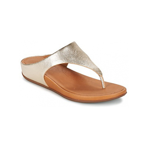 FitFlop BANDA women's Flip flops / Sandals (Shoes) in Gold