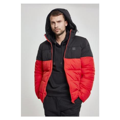 Urban Classics Hooded 2-Tone Puffer Jacket firered/blk