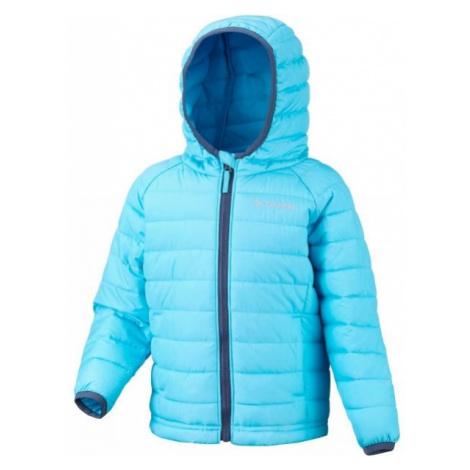 Columbia POWDER LITE GIRLS HOODED JACKET blue - Girls' insulated jacket