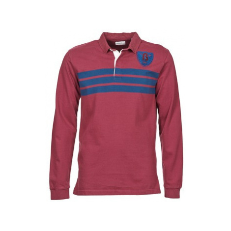Serge Blanco HERITAGE 3 RAYURES men's Polo shirt in Red