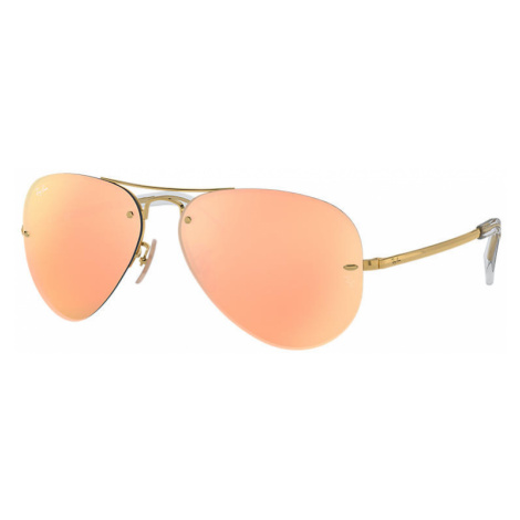 Ray-Ban Rb3449 Unisex Sunglasses Lenses: Pink, Frame: Gold - RB3449 001/2Y 59-14