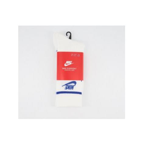 Nike Crew Socks 3 Pack WHITE GAME ROYAL STRIPED