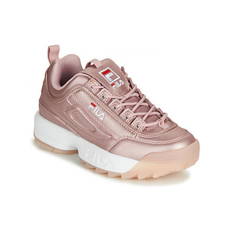 Fila DISRUPTOR M LOW WMN women's Shoes (Trainers) in Pink