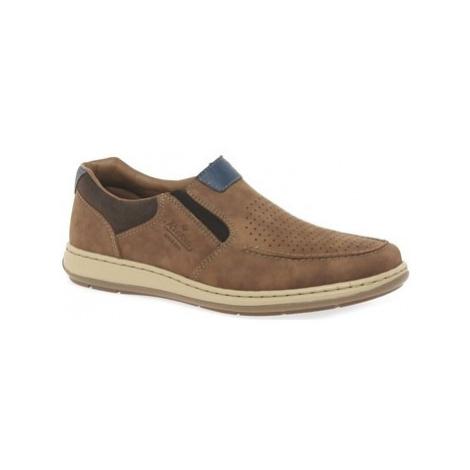 Rieker Gerry Mens Lightweight Slip On Shoes men's Slip-ons (Shoes) in Brown