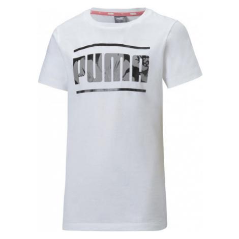 Puma ALPHA TEE white - Girls' sports T-shirt
